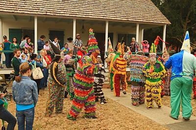 Photograph - Mardi Gras At Vermillionville Lafayette Louisiana by Ronald Olivier