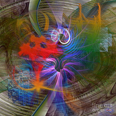 Digital Art - Mardi Gras - Square Version by John Beck