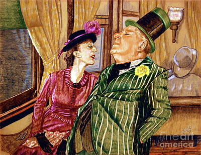 Margaret And W.c. Fields Art Print by Linda Simon