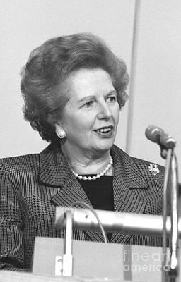 Photograph - Margaret Thatcher by David Fowler