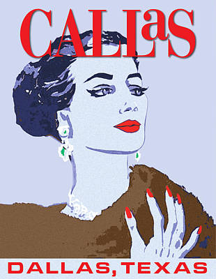 Vector Digital Art - Maria Callas by Gary Grayson