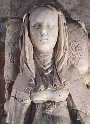 Statue Portrait Photograph - Maria De Molina 1265-1321. Queen by Everett