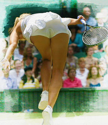 Wta Digital Art - Maria Sharapova -  Wimbledon Championships by Don Kuing