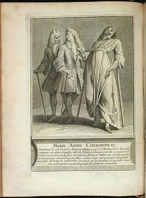 Marie Anne Couronneau Art Print by British Library