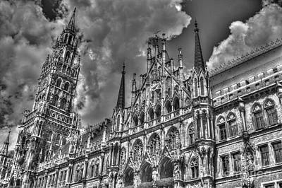 Marienplatz In Munich Art Print by Joe  Ng