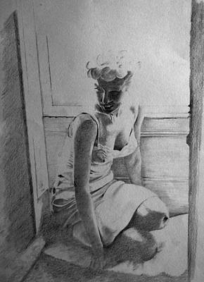 Drawing - Marilyn by Derrick Parsons