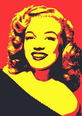Smiling Mixed Media - Marilyn Monroe by Art Cinema Gallery