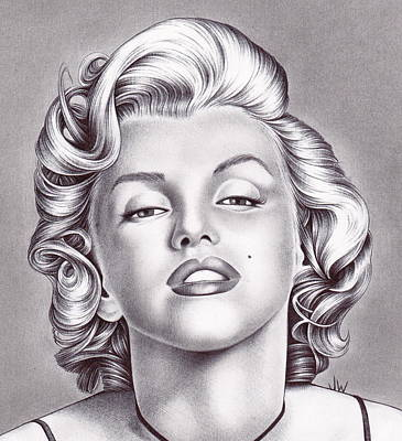 Model Drawing - Marilyn Monroe by Jamie Warkentin