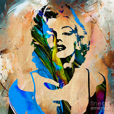Movie Stars Mixed Media - Marilyn Monroe Painting by Marvin Blaine