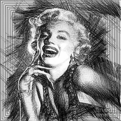 Digital Art - Marilyn Monroe - The One And Only  by Rafael Salazar