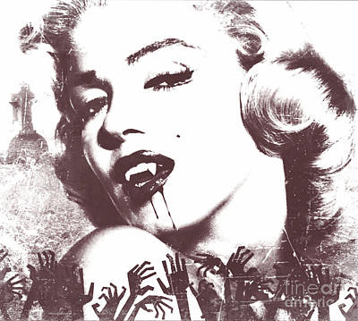 Digital Art - Marilyn Monroe Vampire by Mindy Bench