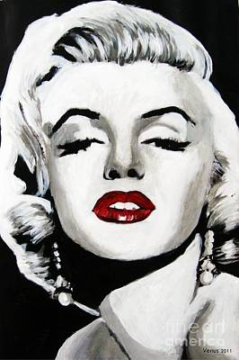 Postmodern Mixed Media - Marilyn Monroe by Venus