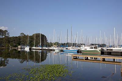 Photograph - Marina At Lake Guntersville Formed By The Guntersville Dam  by Carol M Highsmith