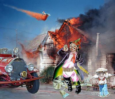 Digital Art - Mario Moreno As Cantinflas In El Bombero Atomico  by Jim Fitzpatrick