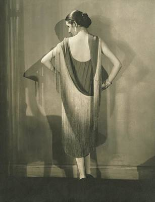 Diamond Bracelet Photograph - Marion Morehouse In A Chanel Dress by Edward Steichen