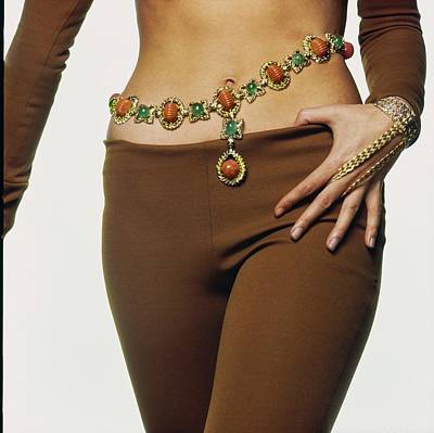 Photograph - Marisa Mell Wearing David Webb by Bert Stern
