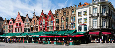 Belgium Photograph - Market At A Town Square, Bruges, West by Panoramic Images