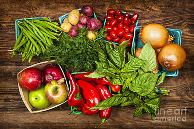 Arrange Photograph - Market Fruits And Vegetables by Elena Elisseeva