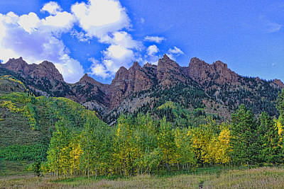 Photograph - Maroon Bells National Recreation Area by Allen Beatty