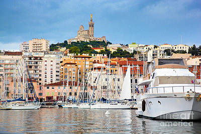 Marseille Photograph - Marseille France Panorama Famous Harbour by Michal Bednarek