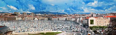 Marseille Photograph - Marseille France Panorama by Michal Bednarek
