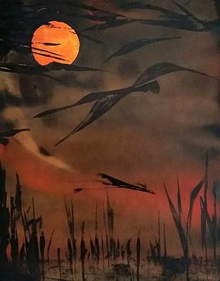 Painting - Marsh Birds by Gerry Smith