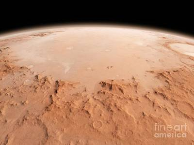Surface Feature Photograph - Martian Impact Basin, Artwork by Walter Myers