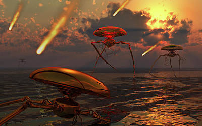 Martian Vehicles And War Machines Art Print