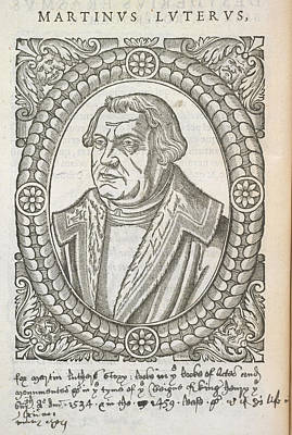 Reformer Photograph - Martin Luther by British Library