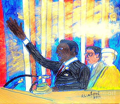 Seminary Painting - Martin Luther King Jr I Have A Dream Speech 1 by Richard W Linford