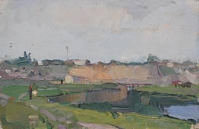 Martovaya Village Original by Ivan Filichev
