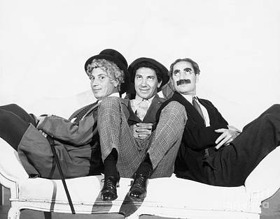 Marx Brothers - Groucho Harpo And Chico Marx Print by MMG Archive Prints
