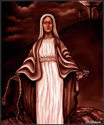 Spiritual Portrait Of Woman Digital Art - Mary by Carmen Cordova