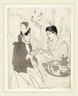 Mary Cassatt, Afternoon Tea Party, American Art Print by Litz Collection