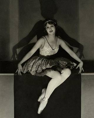 Photograph - Mary Eaton Wearing A Tutu by Edward Steichen