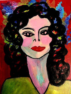 Femal Portrait Painting - Mary by Nikki Dalton