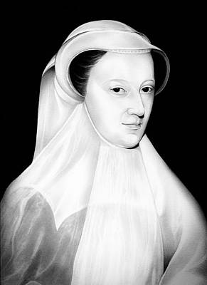 Queen Mary Drawing - Mary Queen Of Scotland In White Mourning by Fred Larucci