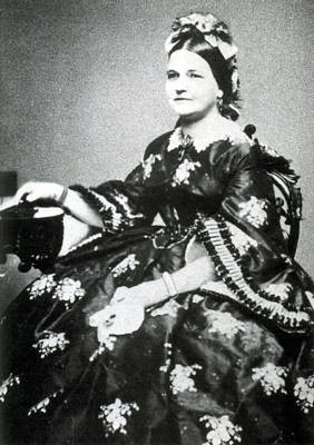 Bipolar Photograph - Mary Todd Lincoln, First Lady by Science Source