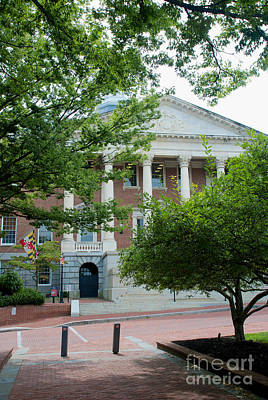 Photograph - Maryland State House Entrance by Mark Dodd
