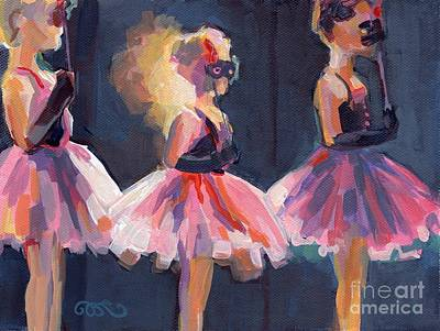 Child Ballerinas Painting - Masquerade by Kimberly Santini