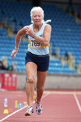 Aging Photograph - Masters Irish Athlete Dorothy Mclennan by Alex Rotas