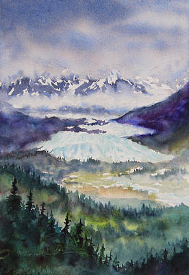 Matanuska Painting - Matanuska Glacier by Karen Mattson