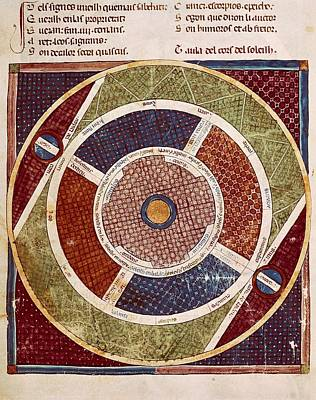 Astronomical Art Photograph - Matfre Ermengau Of Beziers -1322 by Everett