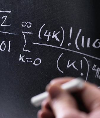 Chalk Boards Photograph - Mathematical Equation by Tek Image