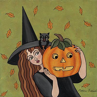 Witch Painting - Matilda by Medana Gabbard