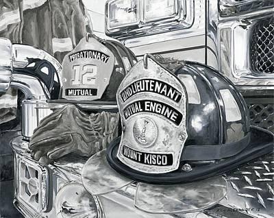 Fire Gear Painting - Matts Helmet by Rich Alexander