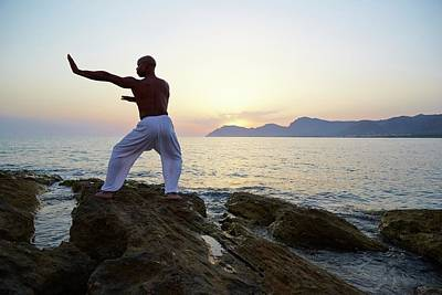 Peaceful Scene Photograph - Mature Man Doing Tai Chi by Ruth Jenkinson