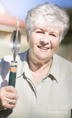 Weeding Photograph - Mature Woman With Garden Tool by Jorgo Photography - Wall Art Gallery