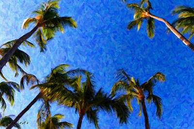 Painting - Maui Palms by Lars Lentz