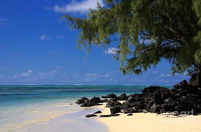Mauritius Blue Sea Art Print by IB Photography